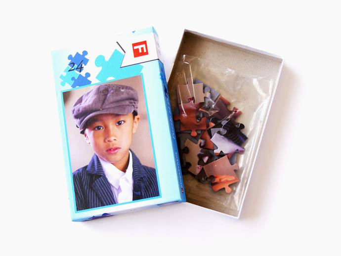 Fotopuzzel 15x21 cm met 24 stukjes in doos