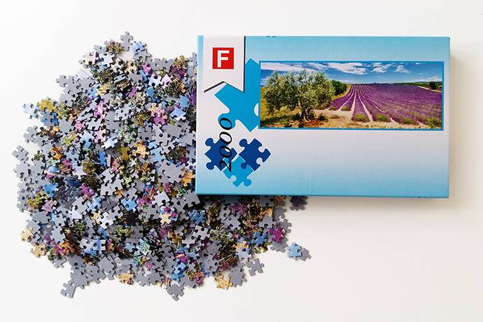 Fotopuzzel 2000 stukjes 48x133 cm panorama maat
