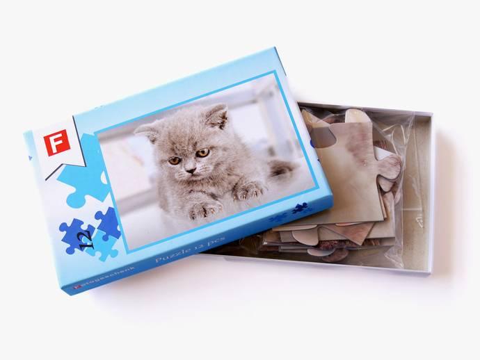 Fotopuzzel 26x38 cm met 12 stukjes in doos