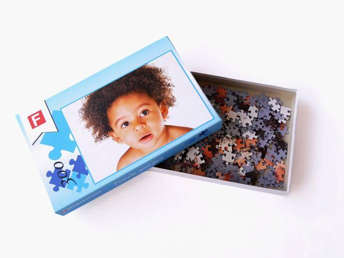Fotopuzzel 31x42 cm met 300 stukjes in doos