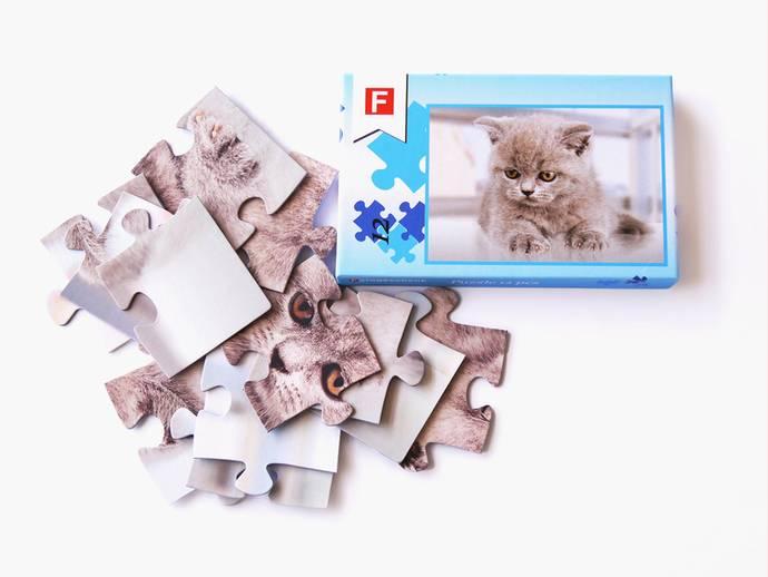 Fotopuzzel met 12 puzzelstukjes en luxe doos
